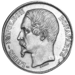 5 Francs Argent Louis-Napoléon Bonaparte 1852A