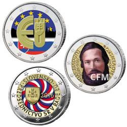 Lot des 3 x 2 Euros Slovaquie colorisées