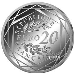 Lot 20 Euro Argent Marianne Égalité 2018  + 20 Euro Argent Marianne Liberté 2017
