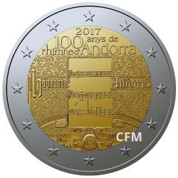 2 Euro Andorre BU 2017 - 100 ans de l'hymne d'Andorre