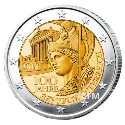 2 Euro Autriche 2018 - 100 ans de la République