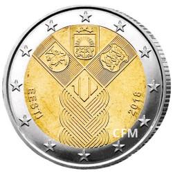 2 Euro Estonie 2018 - 100 ans de l'indépendance des États baltes