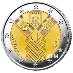 2 Euro Lettonie 2018 - 100 ans de l'indépendance des États baltes