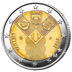 2 Euro Lituanie 2018 - 100 ans de l'indépendance des États baltes