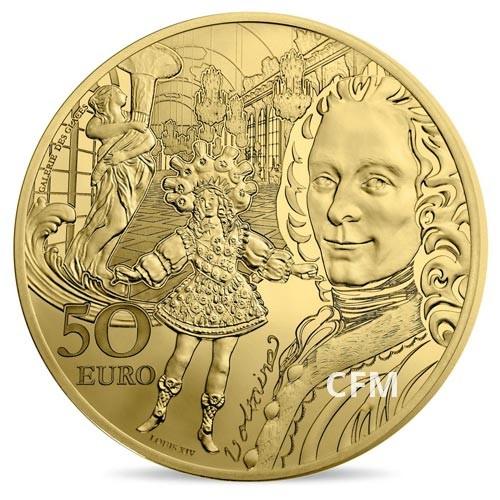 50 Euro Or France BE 2018 - Europa Star : l'époque Baroque et Rococco