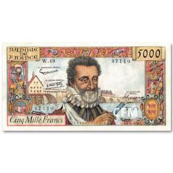 Billet 5 000 Francs Henri IV