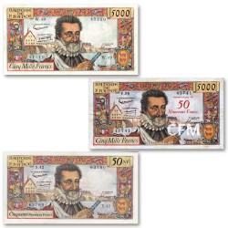 Lot des 3 billets Henri IV