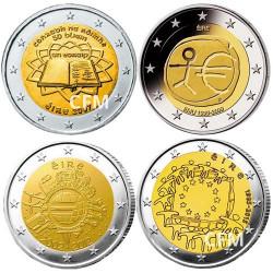 Lot des 4 x 2 Euro Irlande