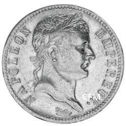 1 Franc Argent Napoléon Ier Tête Laurée