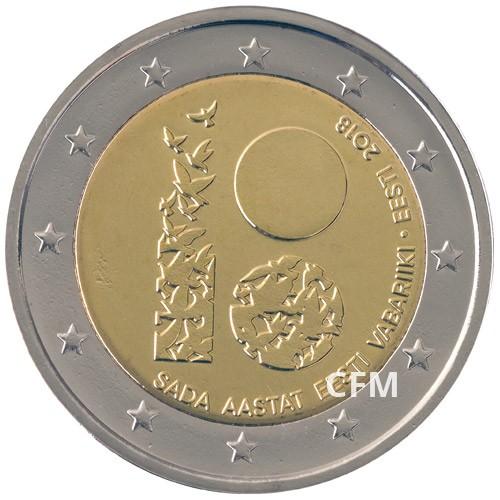 2 Euro Estonie 2018 - 100 ans de l'Indépendance