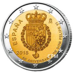 2 Euro Espagne 2018 - 50 ans de Felipe VI