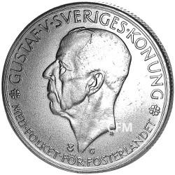 1935 - Suède - 5 Couronnes Argent Gustav V de Suède