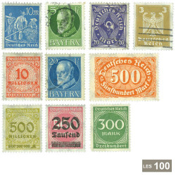 100 timbres Allemagne 1872-1932