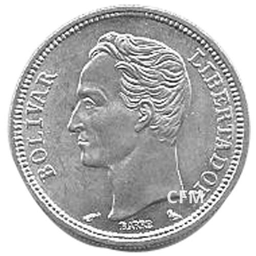 1 Bolivar Argent Vénézuela 1960 - Bolivar Libertador