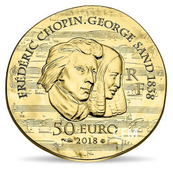 50 Euro Or France BE 2018 - George Sand