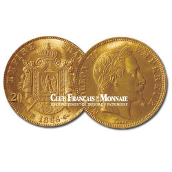 20 Francs Or - Napoléon III - Tête laurée