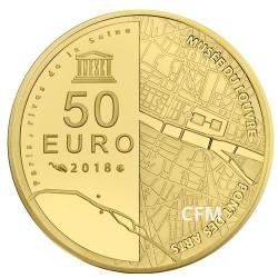 50 Euro Or France BE 2018 - Louvre et Pont des Arts
