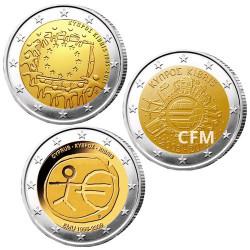 Lot des 3 x 2 Euro Chypre - Programme commun