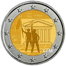 2 Euro Belgique BU 2018 - 50 ans de mai 1968