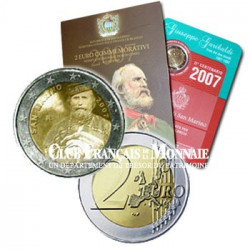 2007 - 2 Euros Saint-Marin Bicentenaire de Giuseppe Garibaldi