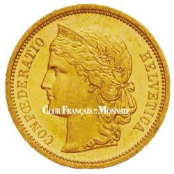 20 Francs Or Suisse 1883-1893 - Confédération