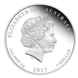 1 Dollar Argent Australie  BE 2017 colorisée - Esprit Anzac