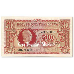 500 Francs Marianne 1945 - Impression Anglaise