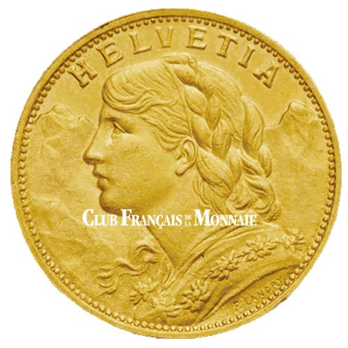 20 Francs Or Suisse 1897-1949 - Vrénéli