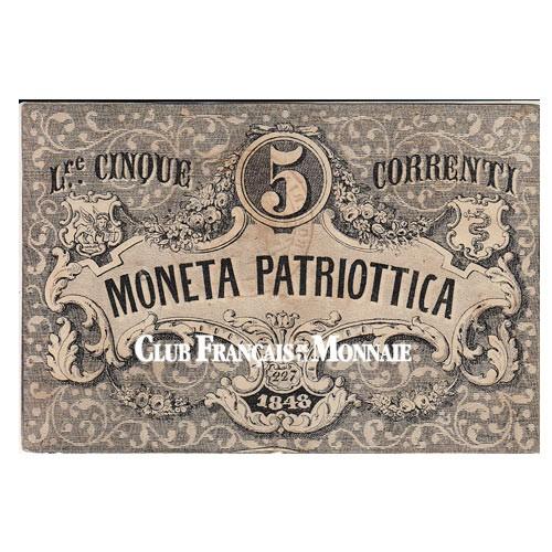 5 Lire Venise 1848