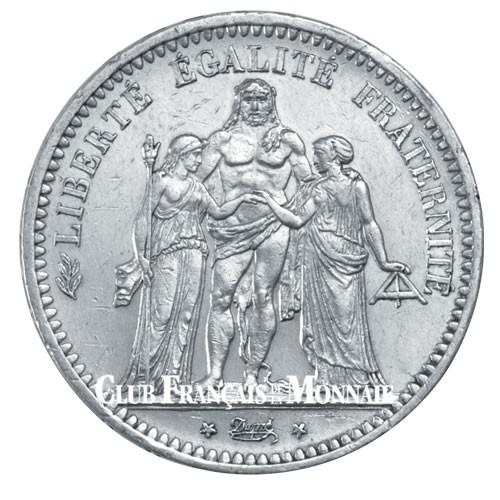 5 Francs Argent France IIème République - Hercule