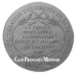 10 Euro Argent France BE 2017 - Olympe de Gouges