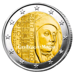 2 Euro Saint-Marin BU 2017 - 750 ans de la naissance de Giotto