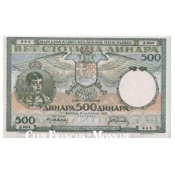 500 Dinara Yougoslavie 1935