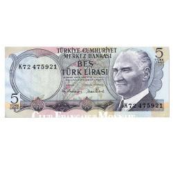 5 Lira Turquie 1976