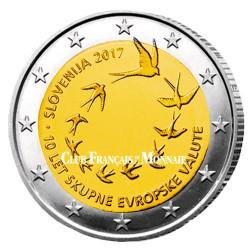 2 Euro Slovénie 2017 - 10 ans de l'Euro