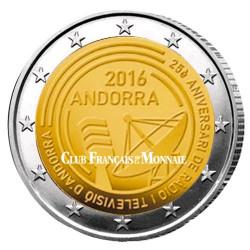2 Euro Andorre BU 2016 - 25 ans de la radio et de la télévision d'Andorre