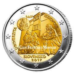 2 Euro Slovaquie 2017 - 550 ans de l'Université Istropolitana