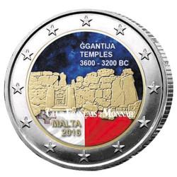 2 Euro Malte 2016 colorisée - Ggantija