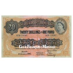 Billet 20 Shillings / 1 Livre Kenya