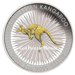 1 Dollar Argent Australie BU 2016 dorée - Kangourou