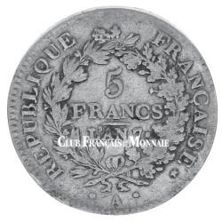 5 Francs Argent Union et Force-Système décimal : depuis 1795
