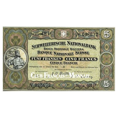 5 Francs Suisse 1947-1952 - Guillaume Tell