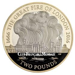2 Livres Argent Royaume-Uni BE 2016 - 350 ans du grand incendie de Londres