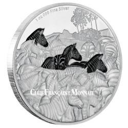 2 Dollars Argent BE 2016 colorisée - Zèbres