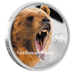 2 Dollars Argent BE 2016 colorisée - Grizzly