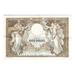 Billet de 1000 Dinara Yougoslavie 1931 - Reine Marie