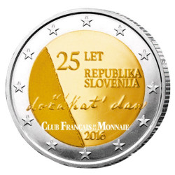 2 Euro Slovénie 2016 - 25 ans de l'indépendance