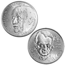 Lot des 2 x 100 Francs Argent : 100 Francs Argent Jean Monnet 1992 et 100 Francs Argent Malraux 1997
