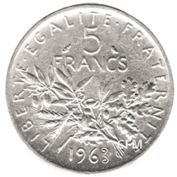 5 Francs Argent Semeuse 1962
