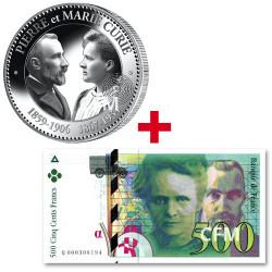 La pièce + le billet Pierre et Marie Curie